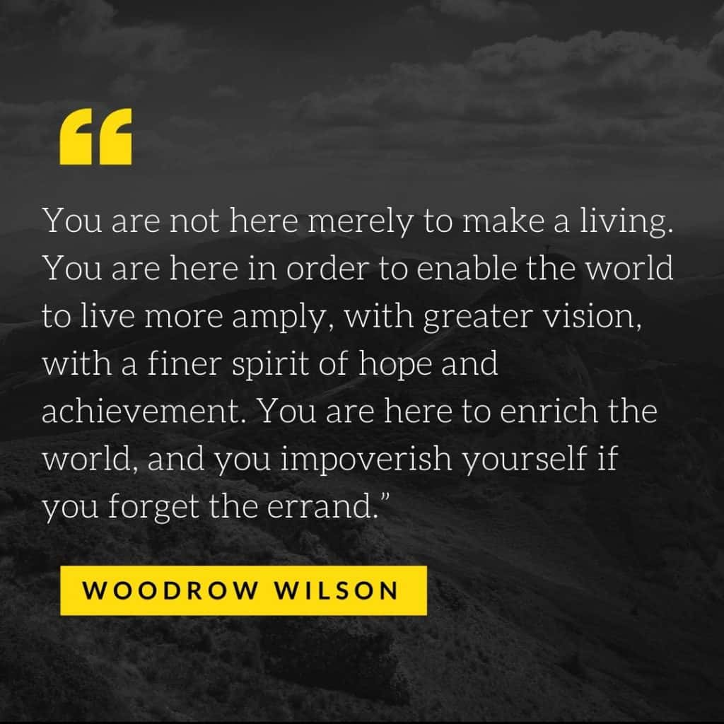 woodrow wilson quotes (signs of humility)