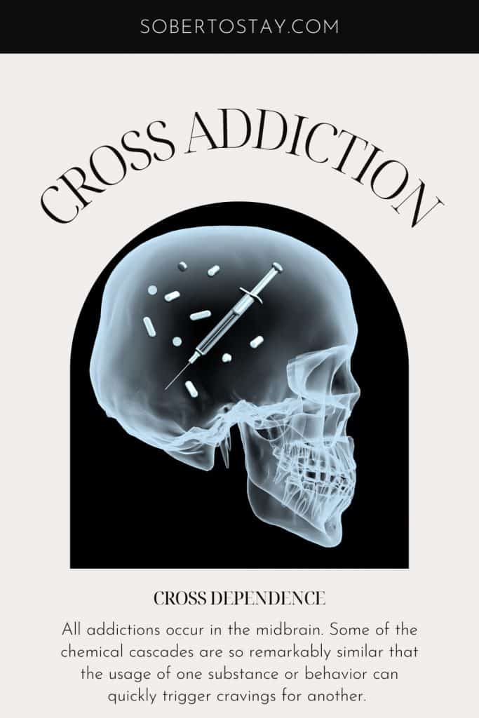 what does cross addiction and cross dependence mean