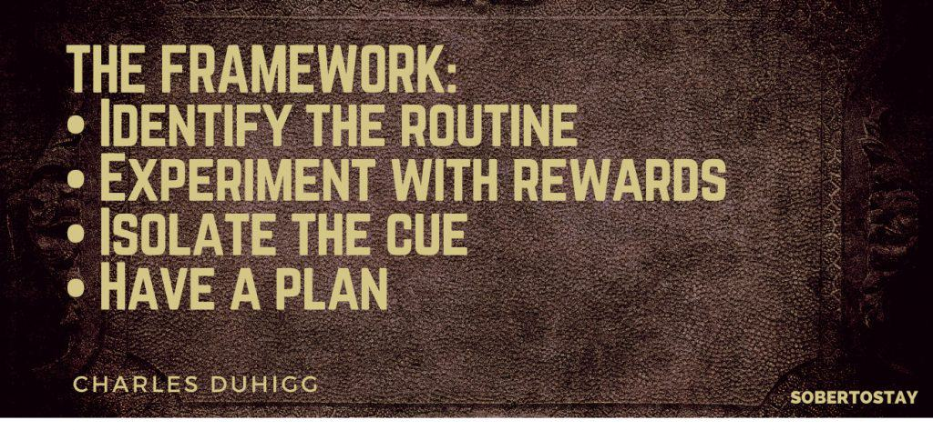 Copy of THE FRAMEWORK • Identify the routine • Experiment with rewards • Isolate the cue • Have a plan the power of habit summary