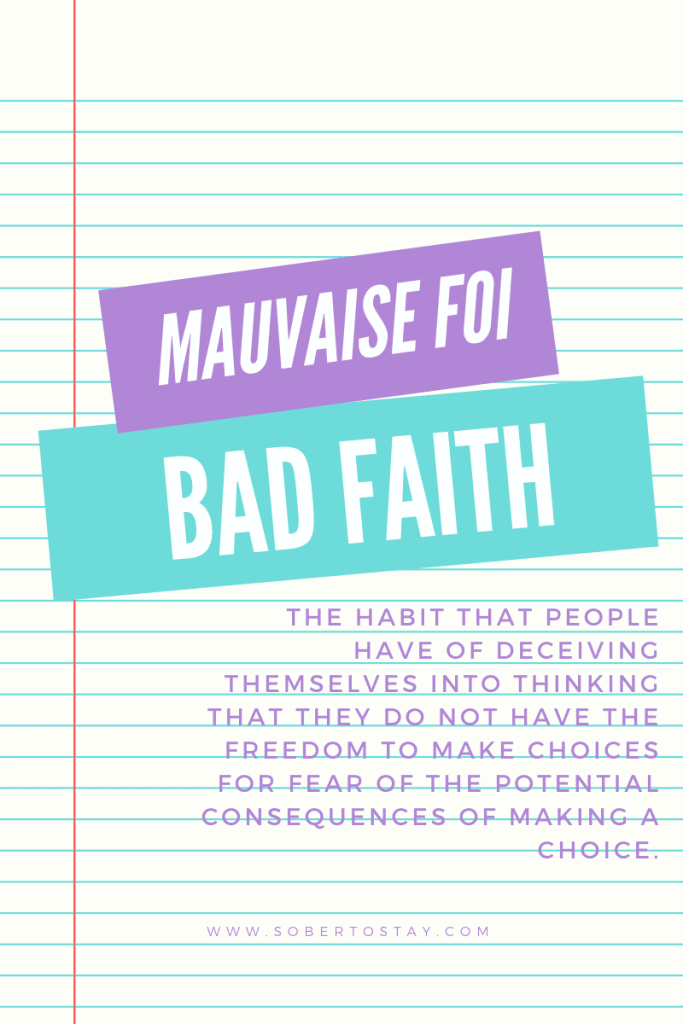 mauvaise foi 1 how to live authentically