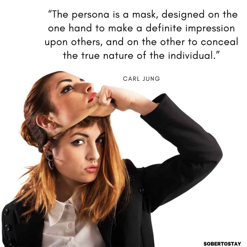 a mask designed on the one hand to make a definite impression upon others and on the other to conceal the true nature of the individual. 1 jungian spirituality